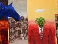 paveikslas_ŽYDRAS BRIEDIS IR BRIUSELIO ŽMOGUS 90x110 cm
